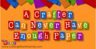 A Crafter Can Never have too much Paper